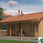 Проект одноэтажного дома с террасой SD-438 Вид4