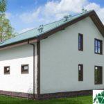 Проект одноэтажного жилого дома с мансардой SD-130 Вид2