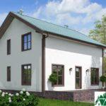 Проект одноэтажного жилого дома с мансардой SD-130 Вид3