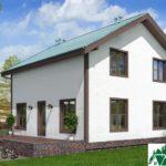 Проект одноэтажного жилого дома с мансардой SD-130 Вид4