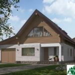 Проект одноэтажного жилого дома с подвалом, мансардой и террасой SD-385 Вид2