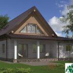 Проект одноэтажного жилого дома с подвалом, мансардой и террасой SD-385 Вид3
