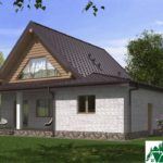 Проект одноэтажного жилого дома с подвалом, мансардой и террасой SD-385 Вид4