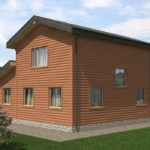 Проект дома из бревна SD-529 -10