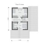Проект дома из бревна SD-529 -2