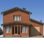 Проект дома из бревна SD-529 -3