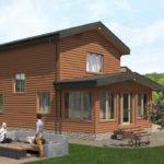 Проект дома из бревна SD-529 -7