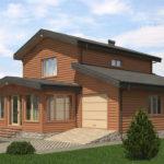Проект дома из бревна SD-529 -8