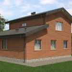 Проект дома из бревна SD-529 -9
