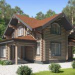 проект дома из бревна SDn-102 3