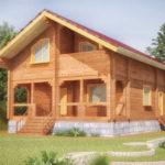 проект дома из бревна SDn-108 1