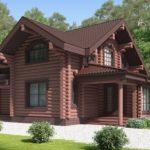 проект дома из бревна SDn-114 1