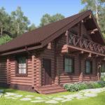 проект дома из бревна SDn-114 2