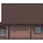 проект дома из бревна SDn-114 3