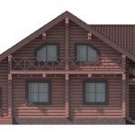 проект дома из бревна SDn-114 5