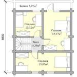 проект дома из бревна SDn-115 1