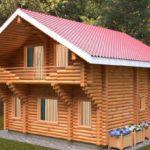 проект дома из бревна SDn-115 3