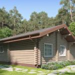 проект дома из бревна SDn-156 2