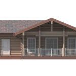 проект дома из бревна SDn-156 6