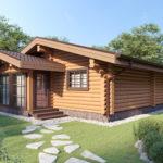 проект дома из бревна SDn-358 1