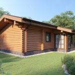 проект дома из бревна SDn-358 2
