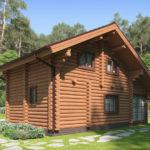 проект дома из бревна SDn-426 2