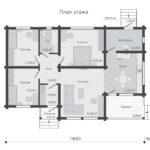 проект дома из бревна SDn-536 1