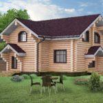 проект дома из бревна SDn-816 1