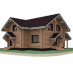 проект дома из бревна SDn-816 2