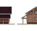проект дома из бревна SDn-816 4