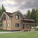 проект дома из бревна SDn-848 1