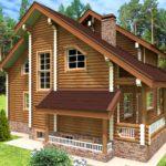 проект дома из бревна SDn-921 7
