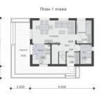 проект дома из бруса SDn-501 1