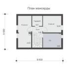 проект дома из бруса SDn-501 6