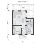 проект дома из бруса SDn-520 1