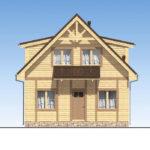 проект дома из бруса SDn-520 2
