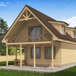 проект дома из бруса SDn-520 9