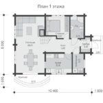 проект дома из бруса SDn-537 1