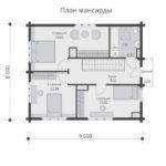 проект дома из бруса SDn-537 6
