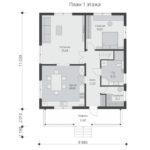 проект дома из бруса SDn-540 1