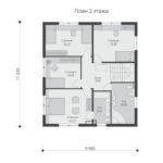 проект дома из бруса SDn-540 2
