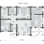 проект дома из бруса SDn-565 1