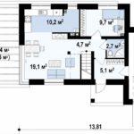 проект дома из керамоблока SDn-312 1