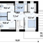 проект дома из керамоблока SDn-312 2