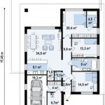 проект дома из керамоблока SDn-364 5