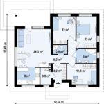проект дома из керамоблока SDn-394 8
