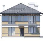 проект дома из кирпича SDn-164 1