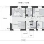 проект дома из кирпича SDn-535 1