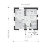 проект дома из кирпича SDn-552 1