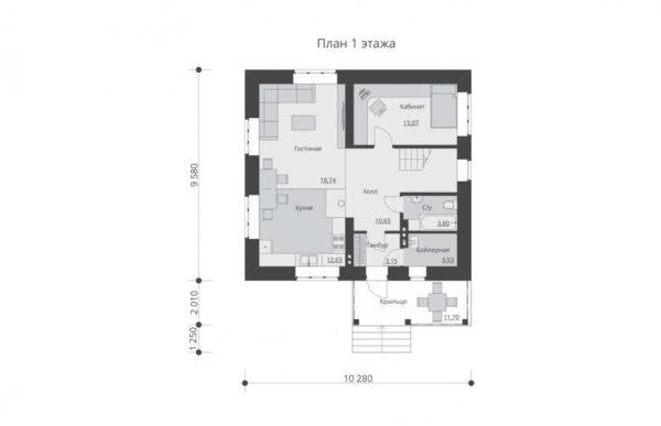 проект дома из кирпича SDn 552 1